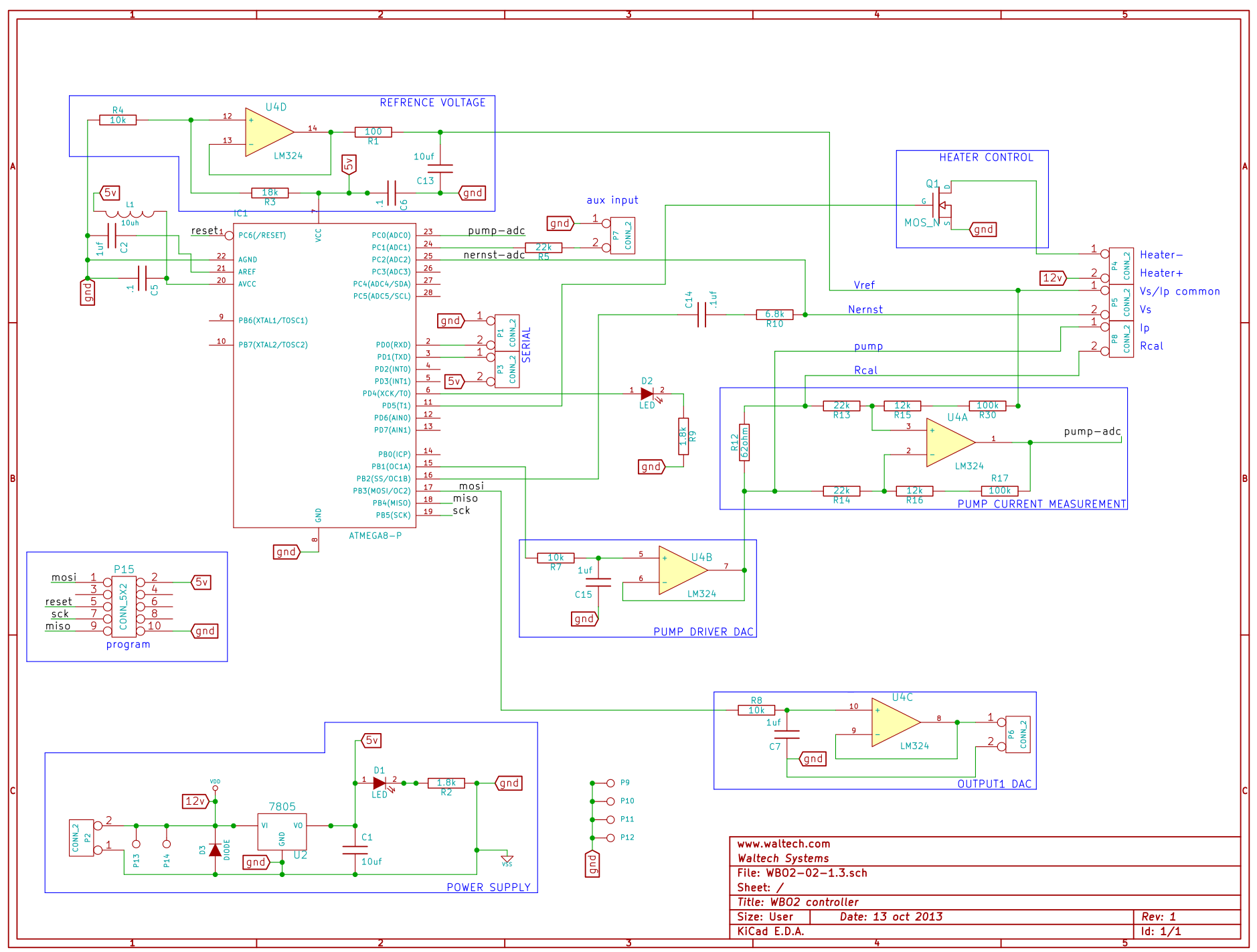 Waltech Wide Band Oxygen Sensor Report Furnace Controller Schematic